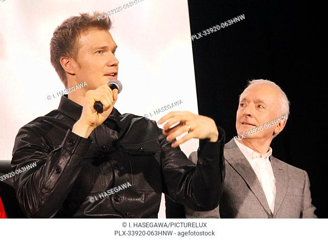 """Joonas Suotamo, Anthony Daniels 12/04/2019 """"""""Star Wars: The Rise of the Skywalker"""""""" Press Conference held in Pasadena, CA. Photo by I"""