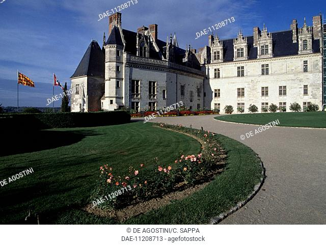 View of Chateau d'Amboise, Loire Valley (UNESCO World Heritage List, 2000), Centre, France, 13th-19th century