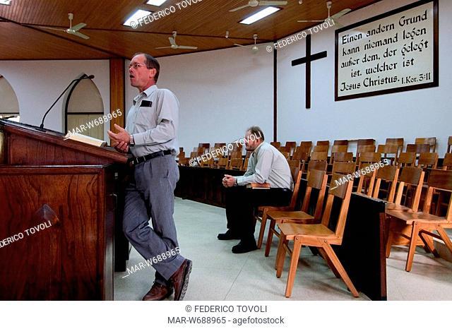 culto della domenica a neuland, paraguay