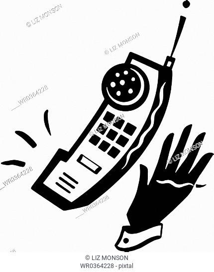 Hand and Ringing Phone