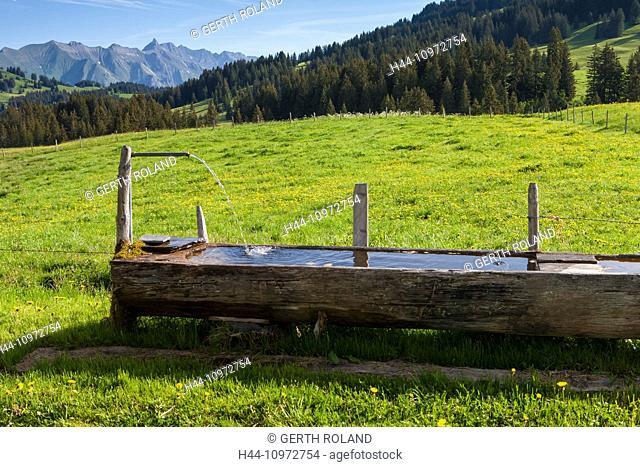 Col des Mosses, Switzerland, Europe, canton, Vaud, Pays d'Enhaut, well