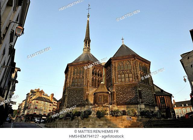France, Calvados, Pays d'Auge, Honfleur, Sainte Catherine church
