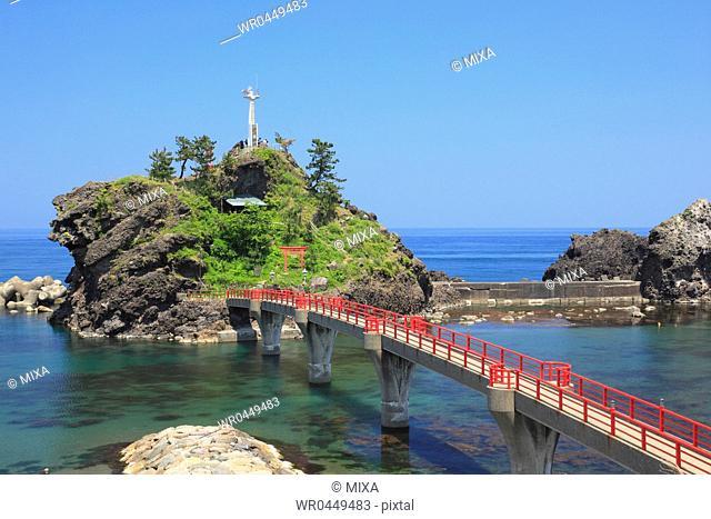 Nou Beach and Benten Rock, Itoigawa, Niigata, Japan