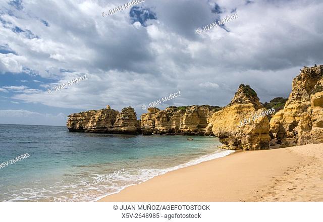 Sao Rafael beach. Albufeira. Algarve. Portugal