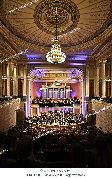 Concert for Notre-Dame in the Rudolfinum Hall in Prague to which the Czech Philharmonic invited the Prague orchestras to perform Czech composer Antonin Dvorak's...