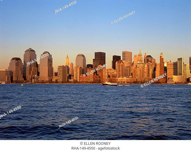 Lower Manhattan skyline post Sept 11, New York City, United States of America, North America