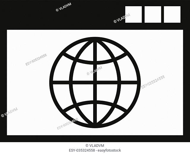 The WWW icon. SEO and browser, development symbol. UI. Web. Logo. Sign. Flat design App Stock vector