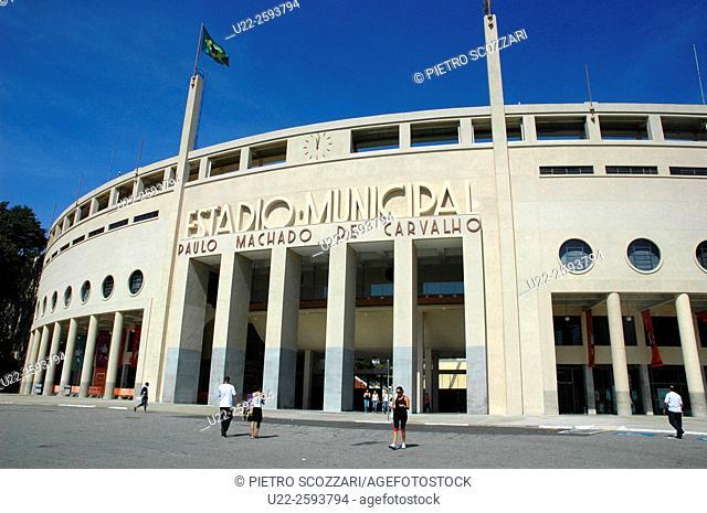 Brazil, Sao Paulo, the Soccer Stadium Paulo Machado de Carvalho, Pacaembu