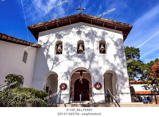 Mission San Luis Obispo de Tolosa Facade Bells Cross California