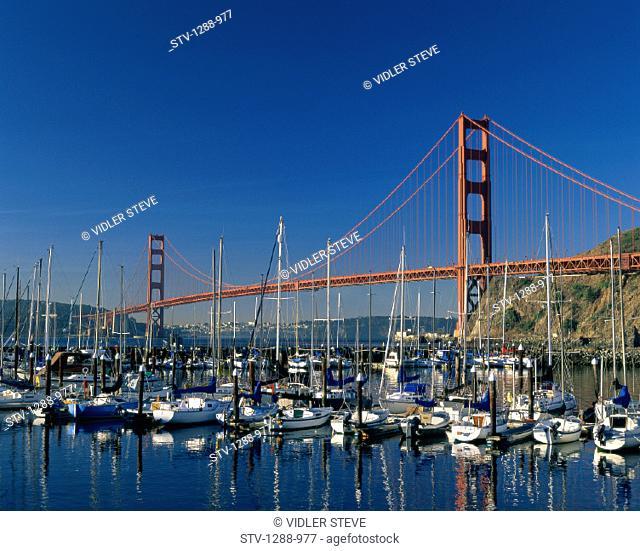 America, Bay, Boats, Bridge, California, Golden gate, Golden gate bridge, Harbor, Holiday, Landmark, Marina, San francisco, Span