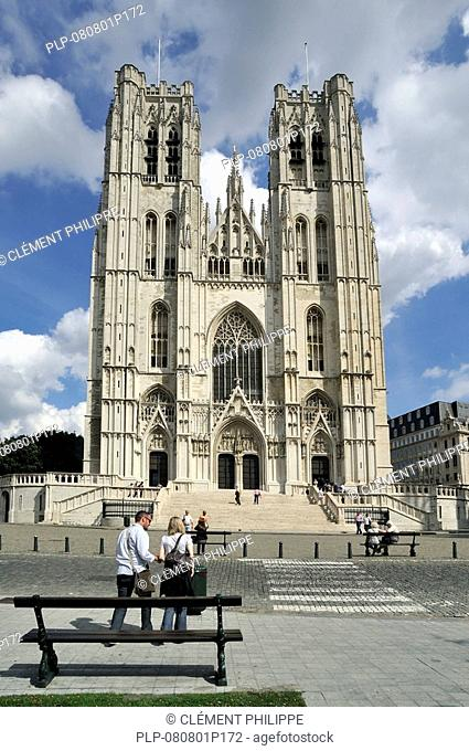 The Saint Gudule and Saint Michael's Cathedral, Brussels, Belgium