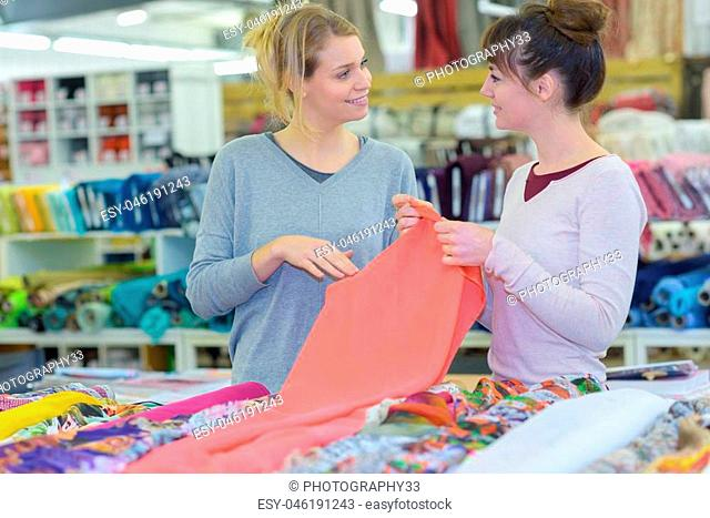 buying a piece of cloth