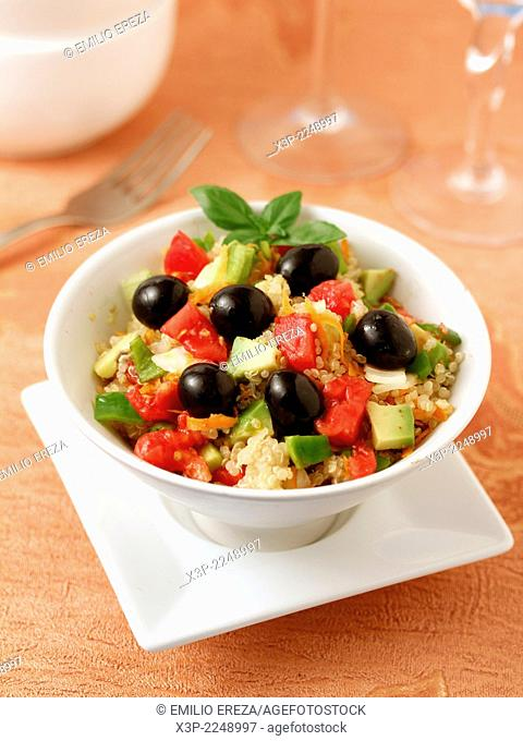 Salad with quinua