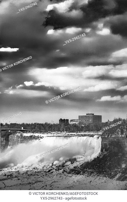 Niagara Falls in winter. American Falls