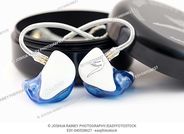 Custom in ear monitors by Jerry Harvey or JH Audio for a musician to wear on stage during a concert