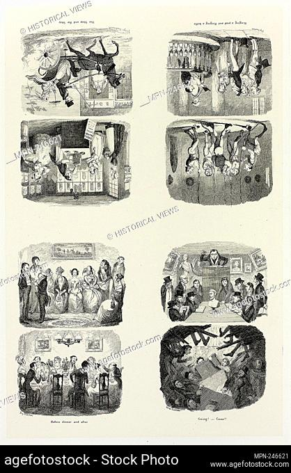 The Shop and the Shay from George Cruikshank's Steel Etchings to The Comic Almanacks: 1835-1853 (top left) - 1842, printed c