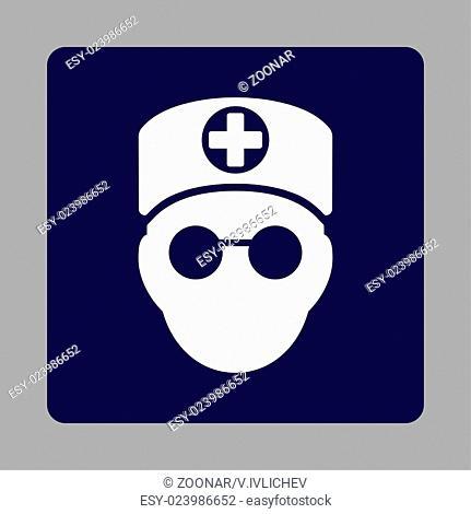 Doctor Head Flat Button