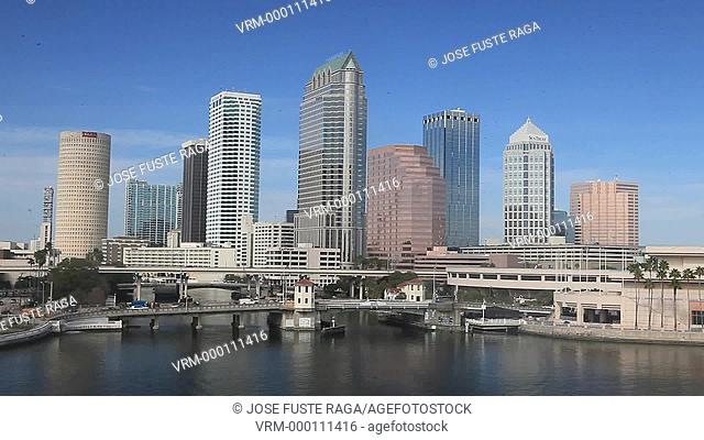 USA, Florida, Tampa City , Downtown Skyline