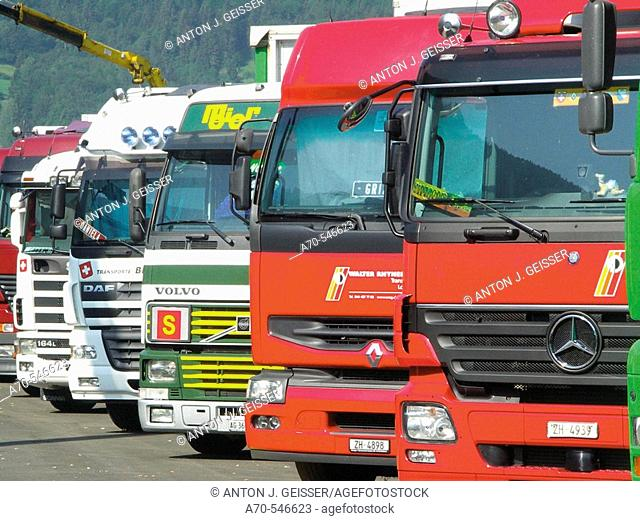 Truck and Country Festival in Interlaken, Bern canton, Switzerland