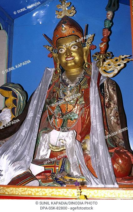 statue of maitreya the future buddha of chowkhahg Gompa , leh , ladakh , Jammu and Kashmir , india