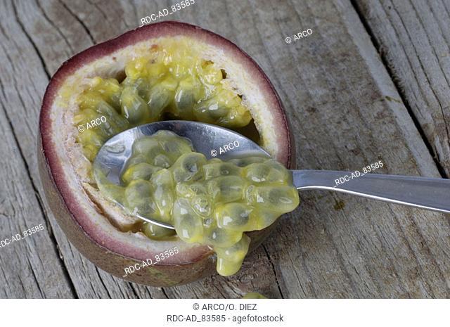 Spoon and Passion fruit Passiflora spp. Granadilla