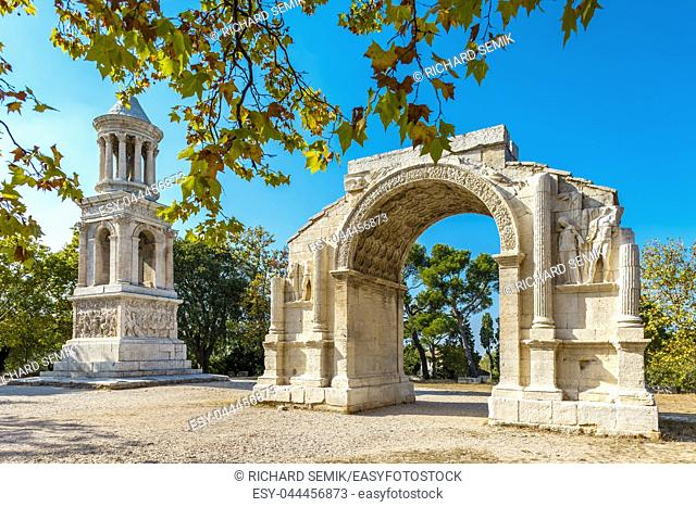 Glanum in summer, Provence. France