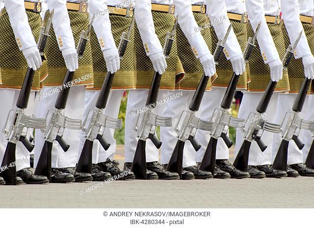 Royal guards with guns, Hari Merdeka parade, Independence Day, Kuala Lumpur, Malaysia