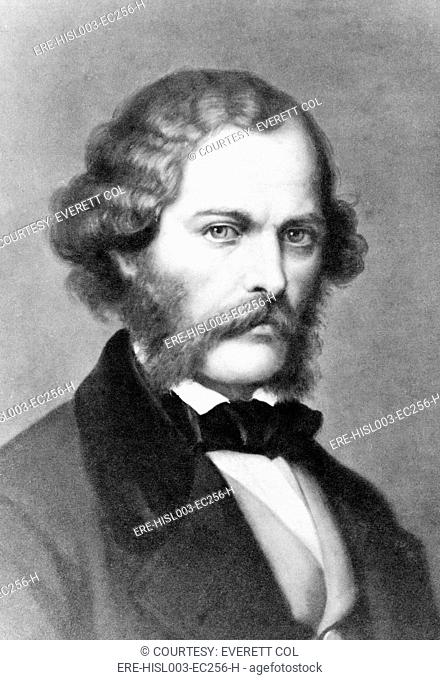 George Henry Lewes 1817-1878 English writer and long time romantic partner of famous women novelist, Mary Ann Evans, 1819-1880 who wrote under the pseudonym of...