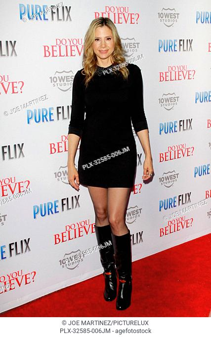 Mira Sorvino at the Premiere of Pure Flix Entertainment's Do You Believe held at Hollywood Archlight Cinemas in Hollywood, CA, March 16, 2015