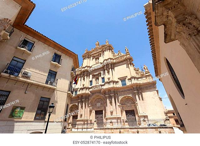 Ancient cathedral of Saint Patrick in the historic city of Lorca. Province of Murcia, Spain