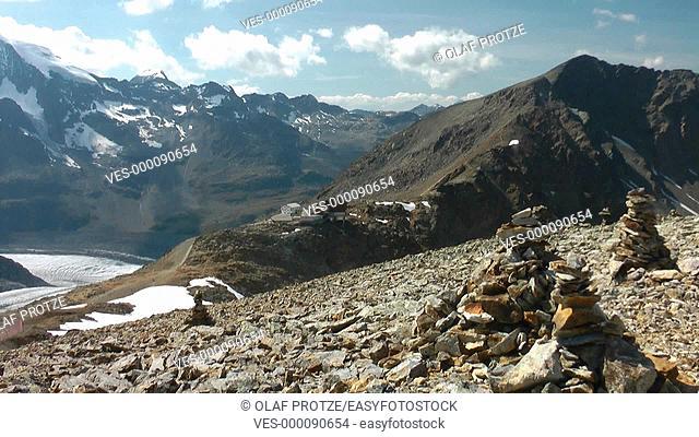 Pers Glacier seen from Diavalezza Mountain Station, Pontresina