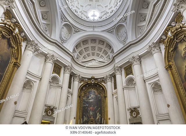 Church of Saint Charles at the Four Fountains (1638), San Carlo alle Quattro Fontane, San Carlino, Rome, Lazio, Italy