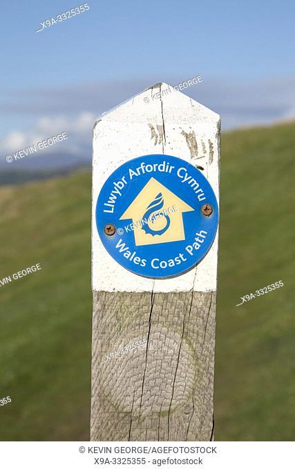 Welsh Coastal Path Sign; Wales; UK