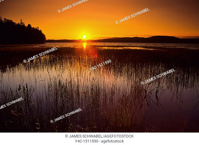 Sunset over Lake Pleasant in Speculator in the Adiroindack Mountains of New York