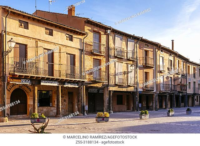 Plaza Mayor, main square. Ayllon, Segovia, Castilla y leon, Spain, Europe