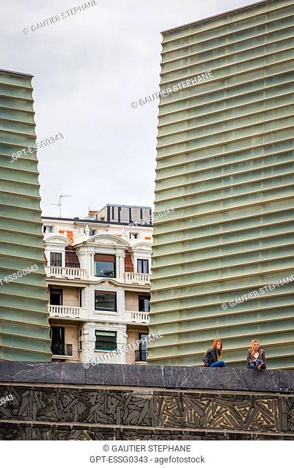 CONTEMPORARY ARCHITECTURE, KURSAAL CONVENTION CENTER, THE KURSALL CUBES, ZURRIOLA BEACH, SAN SEBASTIAN, DONOSTIA, BASQUE COUNTRY, SPAIN