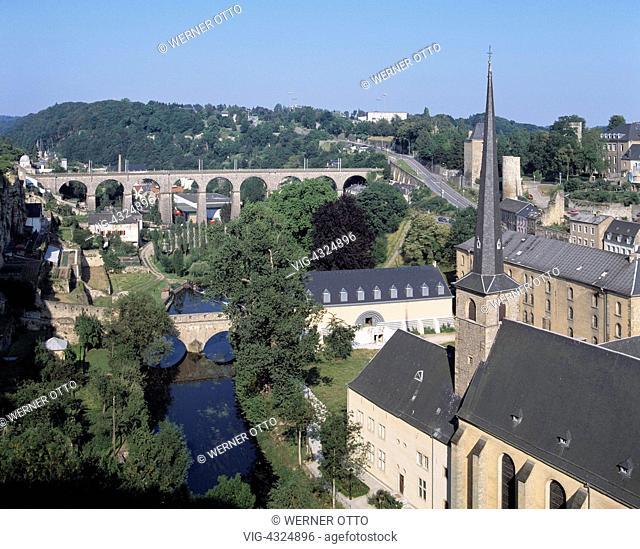 L-Luxemburg, Alzette-Tal, Kirche St. Jean Baptiste, L-Luxembourg, Alzette Valley, St. Jean Baptiste Church, UNESCO, Welterbe, Weltkulturerbe