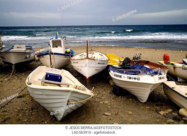 Las Negras beach, Cabo de Gata. Almeria province, Andalusia, Spain