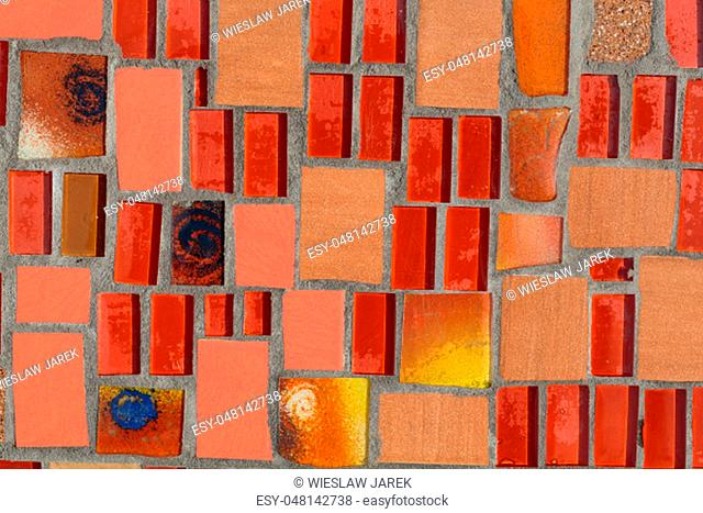 Glossy mosaic. Abstract seamless background