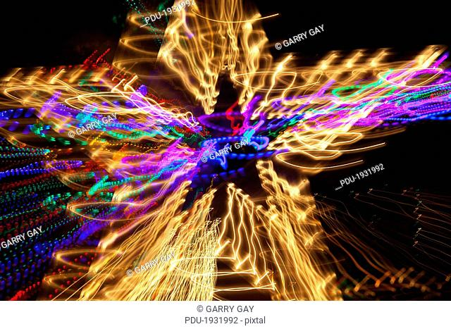 Lights of abstract star