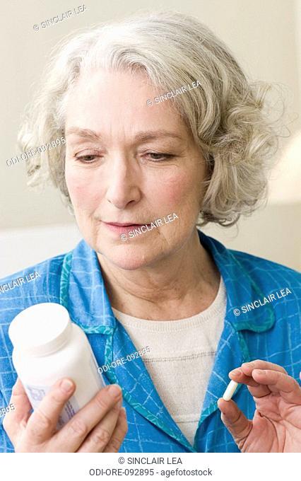 Senior woman medicine