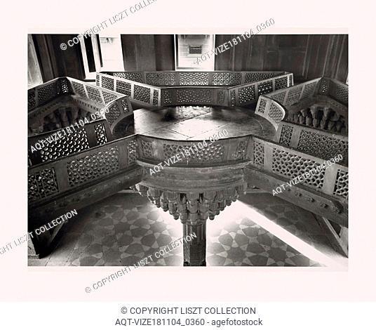 India, Fatehpur SÄ«kri, Diwan-i-Khas, 1968 or earlier, Cities of Mughul India