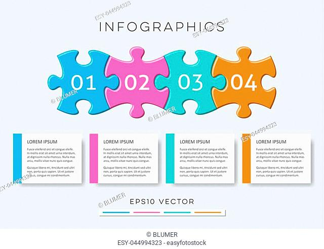 Modern options banners infographic vector design puzzle pieces