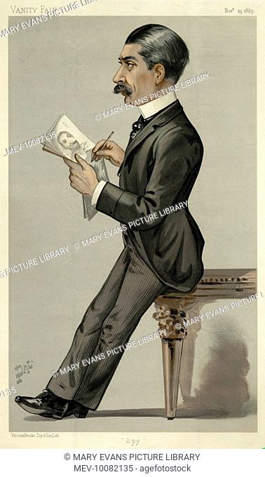 SIR LESLIE WARD pseudonym: SPY English caricaturist on Vanity Fair (from 1873), and portrait painter