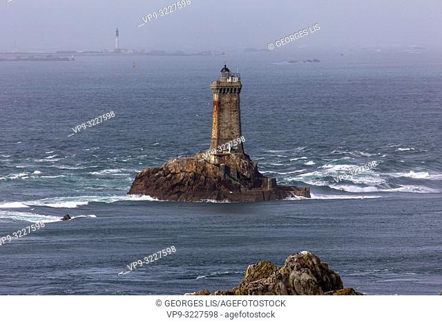 Pointe du Raz, cape and La Vieille lighthouse Finistere, Bretagne, France