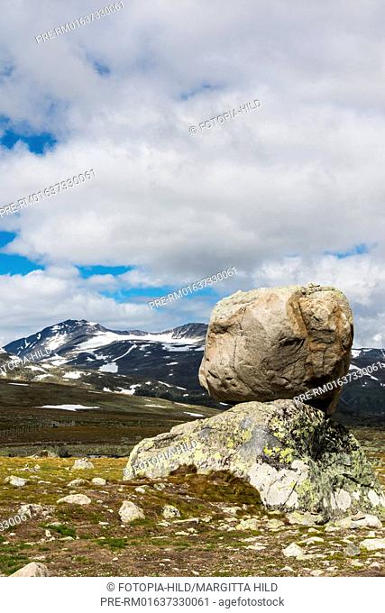 Look from Fylkesvei 51 to Jotunheimen national park, Oppland, Norway, July 2016 / Blick vom Fylkesvei 51 auf den Jotunheimen Nationalpark, Oppland, Norwegen