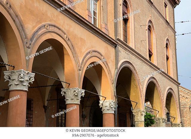 Portico in Santo Stefano Square, Bologna; Italy