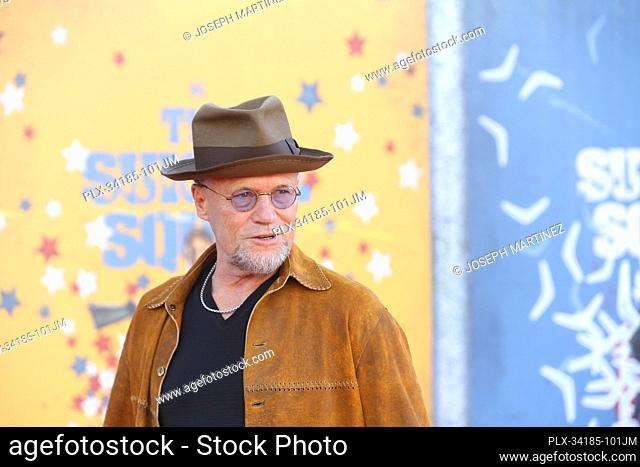"""Michael Rooker at """"""""The Suicide Squad"""""""" Premiere held at the Regency Village Theatre in Los Angeles, CA, August 2, 2021. Photo Credit: Joseph Martinez /..."""