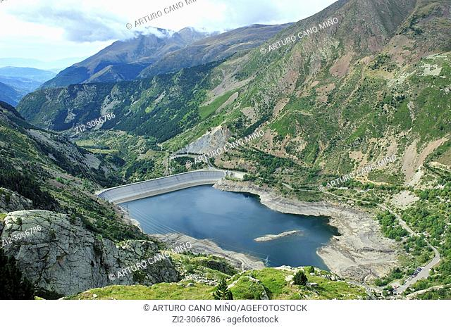 The reservoir of Sallente. Vall Fosca. Catalan Pyrenees. Capdella town, Lleida province, Spain