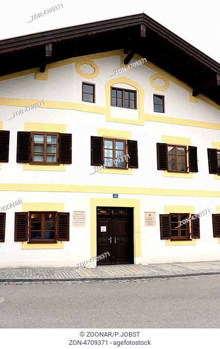Geburtshaus von Papst Benedikt XVI in Marktl am Inn in Bayern / Birthplace of Pope Benedict XVI at Marktl am Inn at Upper Bavaria